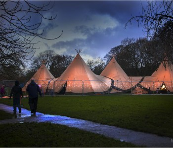 Ilkley Christmas Teepees 2015 at Bar Events UK